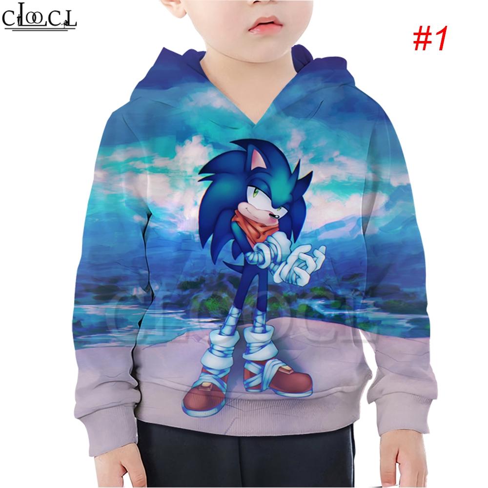 Hx Sonic The Hedgehog Game Cartoon Cool Kids Casual Hoodie 3d Print Casual Boy Girl Coat Outerwear Shopee Malaysia