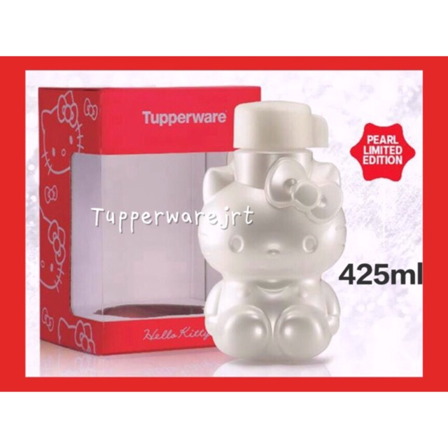 Tupperware Pearl Hello Kitty Bottle 425ml with Gift Box x 1pc