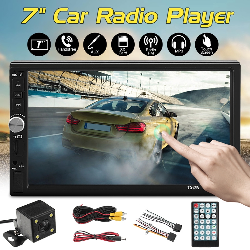 7012B 7'' HD Touch Screen Double 2 DIN Bluetooth Car Stereo Radio MP5  Player Phone MirrorLink /FM/USB/TF/AUX