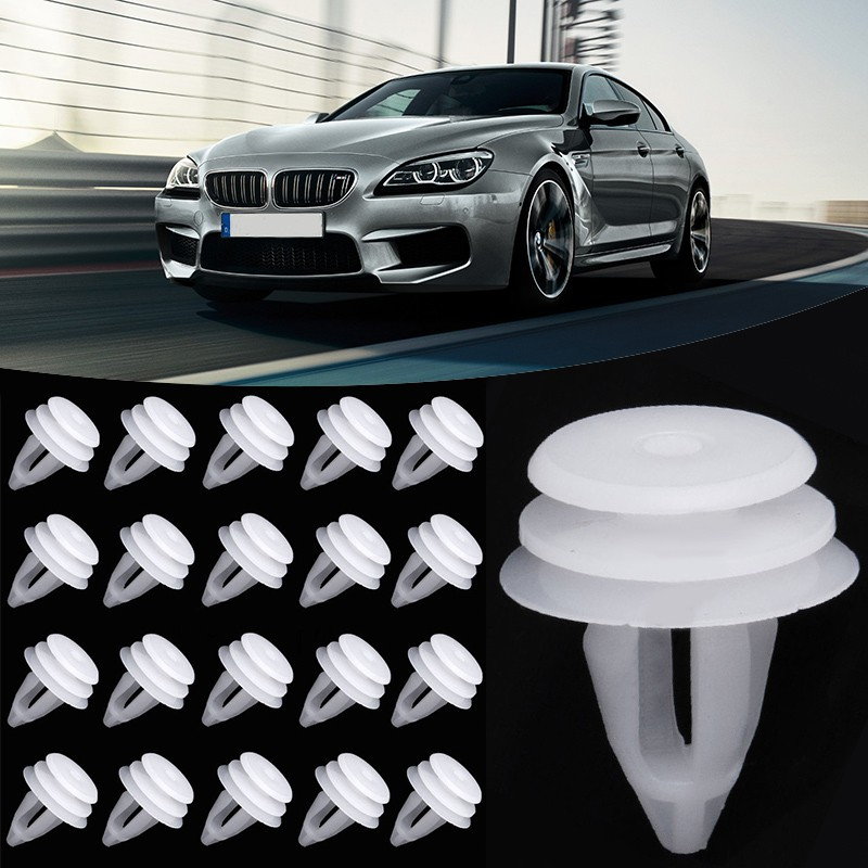 Auto Parts and Vehicles 50pcs for BMW 3 5 7 Series Arch Push-Type Retainer Clips Bumper Trim Sill Wheel