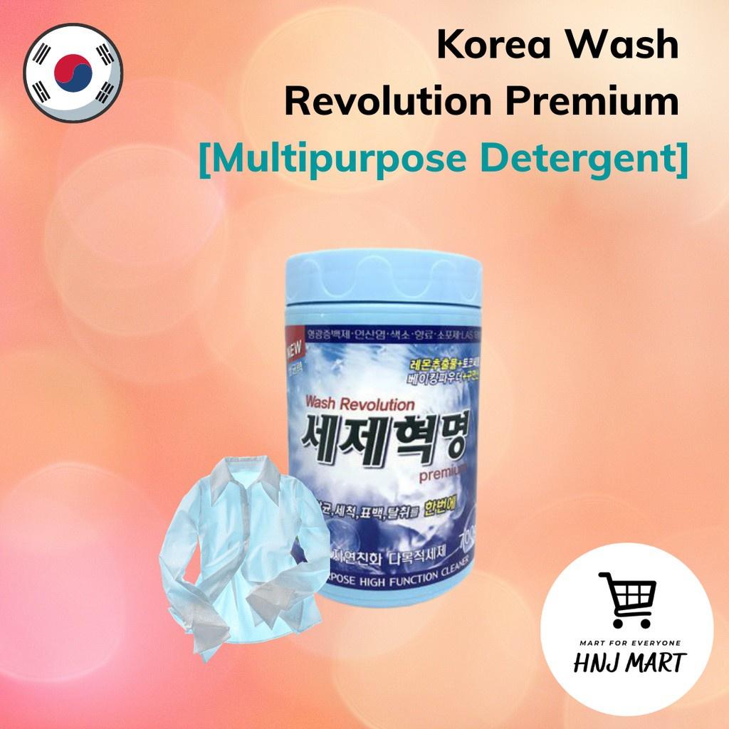 Korea Wash Revolution Premium 700g Multipurpose Detergent/Cleaner/Sterilizer/Laundry