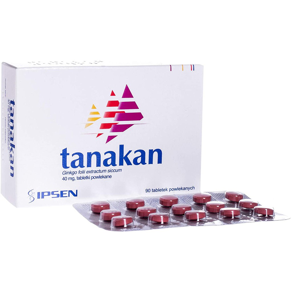 TANAKAN 40mg 15's / 30's / 90's (Ginkgo Biloba 40mg) - Ready Stock