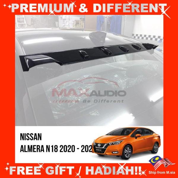 [FREE Gift] NISSAN ALMERA N18 2020 - 2021 Aerodynamic Vortex Generator Smoke Black Racing Roof Fin Visor