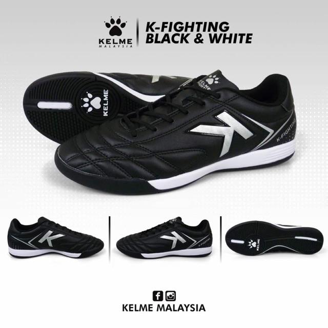 KELME K-FIGHTING FUTSAL SHOE (BLACK   WHITE)  3255871db