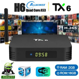 TX6 2+16GB android 9 0 Allwinner H6 android tv box BT5 0