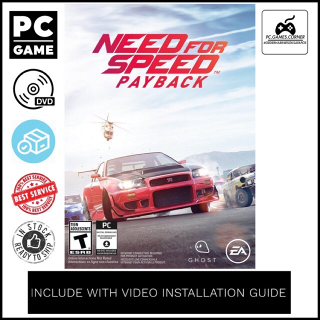 Pc Game Need For Speed Payback Deluxe Edition Offline Dvd