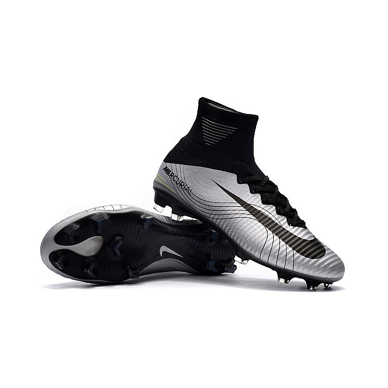 ab6ec7349fa Nike Mercurial Superfly V Real Madrid FG Soccer Cleats Football Shoes  White Gold