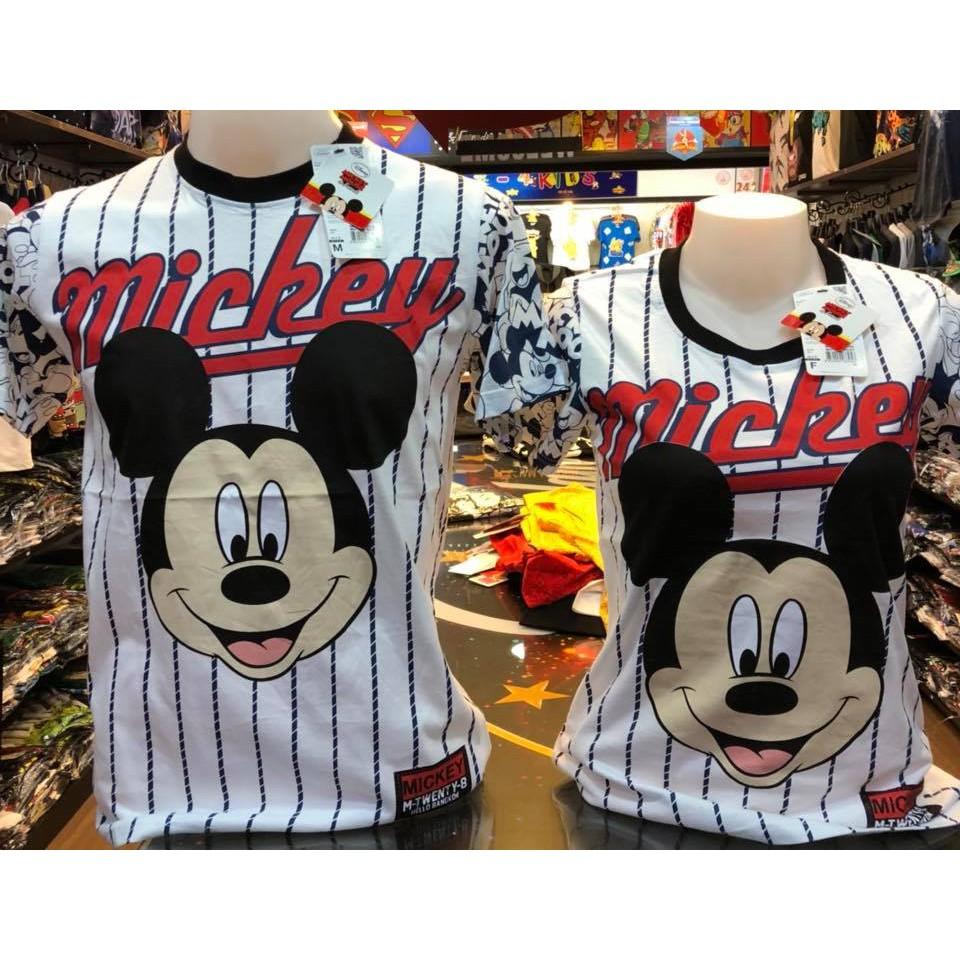 เสื้อลิขสิทธิ์แท้ มิกกี้เม้าส์ (ลายทาง) Mickey