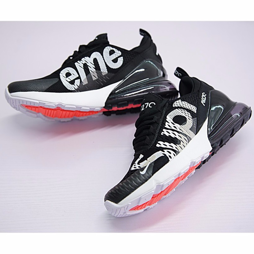 uk availability 399f1 95844 Nike Air Max 270 x Supreme Shoes Men Airmax 27c Running Shoes Sport Sneakers