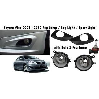 Toyota Vios 2003 2005 2008 2012 2013 2018 Trd 2017 Fog Lamp Fog Lamp Sport Light 1 Set 2pcs Shopee Malaysia