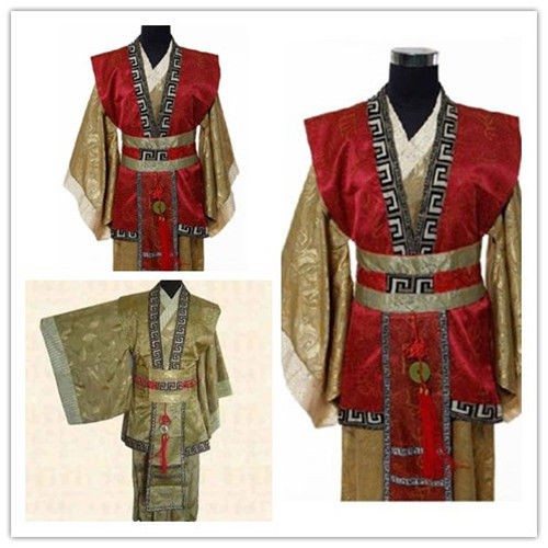 Hot Chinese Han Clothing Emperor Prince Show Cosplay Suit Robe Costume with Hat