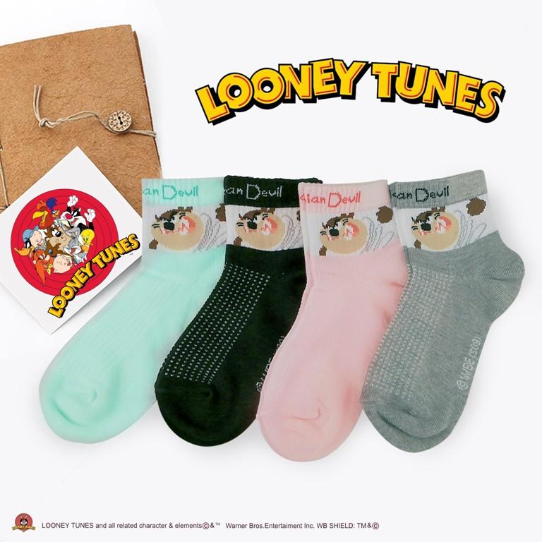 ⭐Ready Stock⭐ LOONEY TUNES - TASMANIAN DEVIL Fashion Kids Sock Ankle Sock 10-12years - Assorted