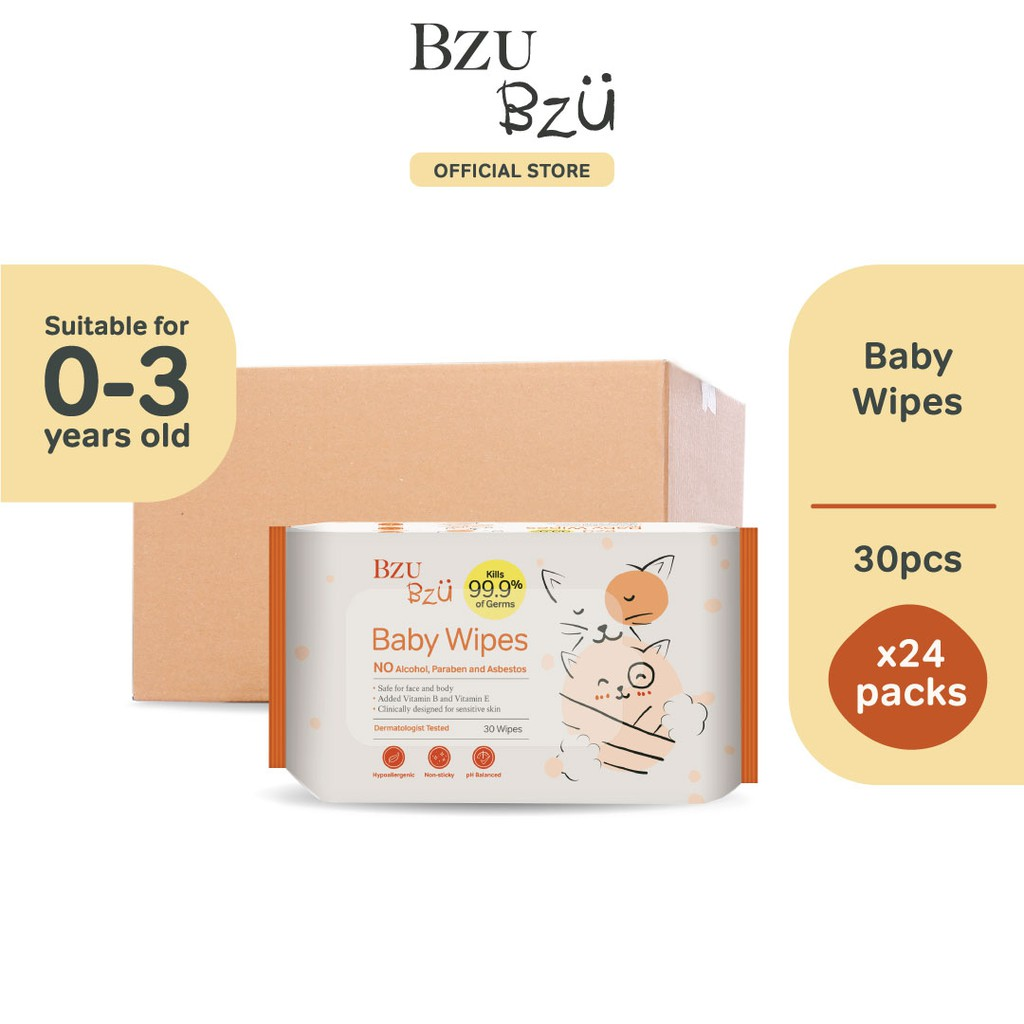 BZU BZU Baby Wipes (30 Pcs x 24)