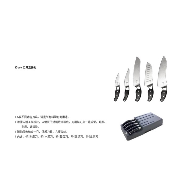 German Stainless Steel Icook Knife Set Amway Shopee Malaysia