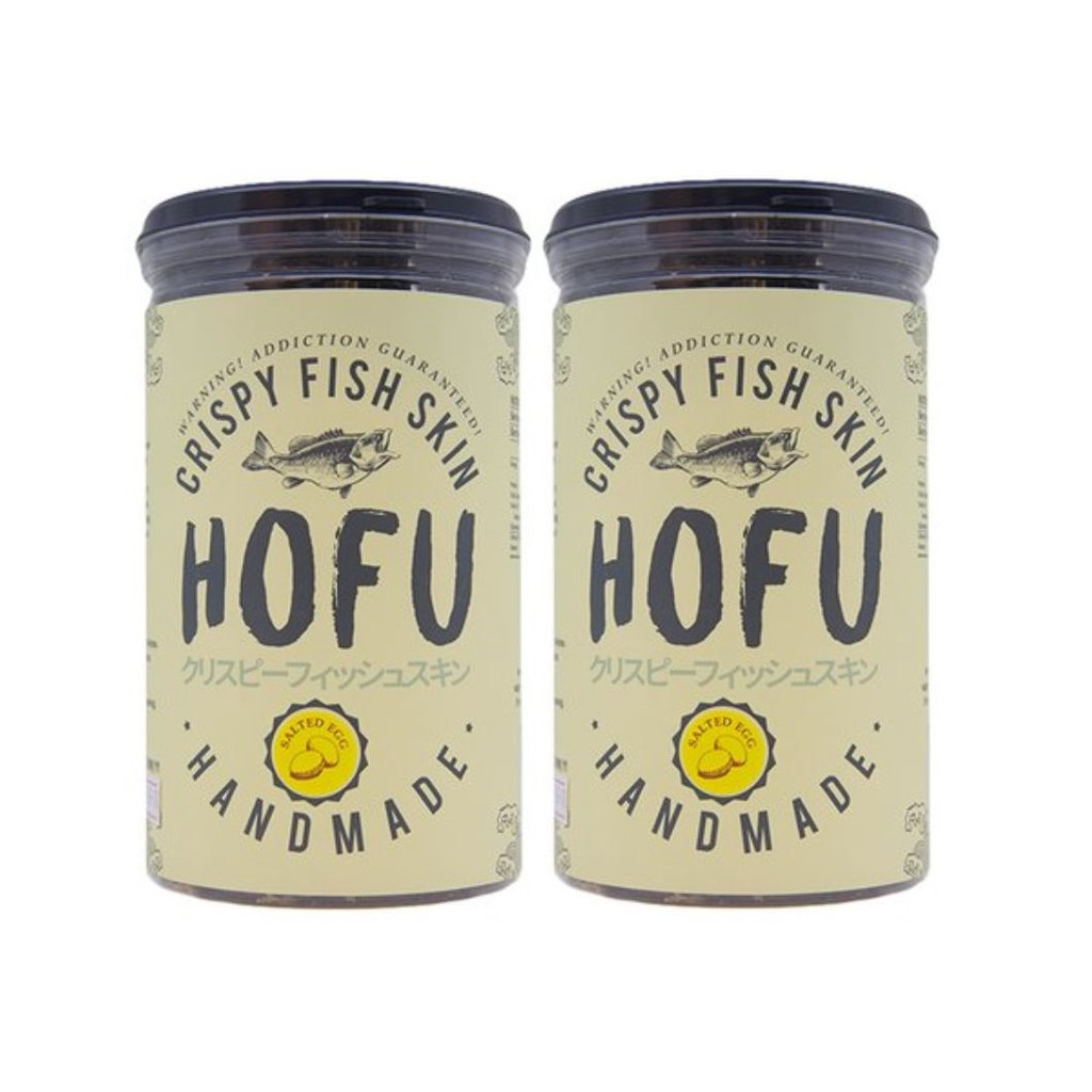 [PROMO] [Original] Hofu Salted Egg Crispy Fish Skin Twin Pack [145g x 2] 黄金咸蛋香脆鱼皮