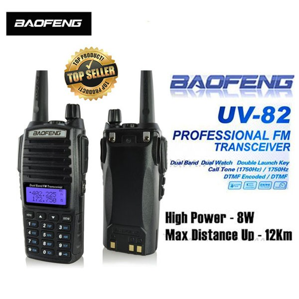 Walkie Talkie Radient Bf-uv82 Outdoor Handheld Dualband Wireless Two-way Fm Antenna Walkie-talkie