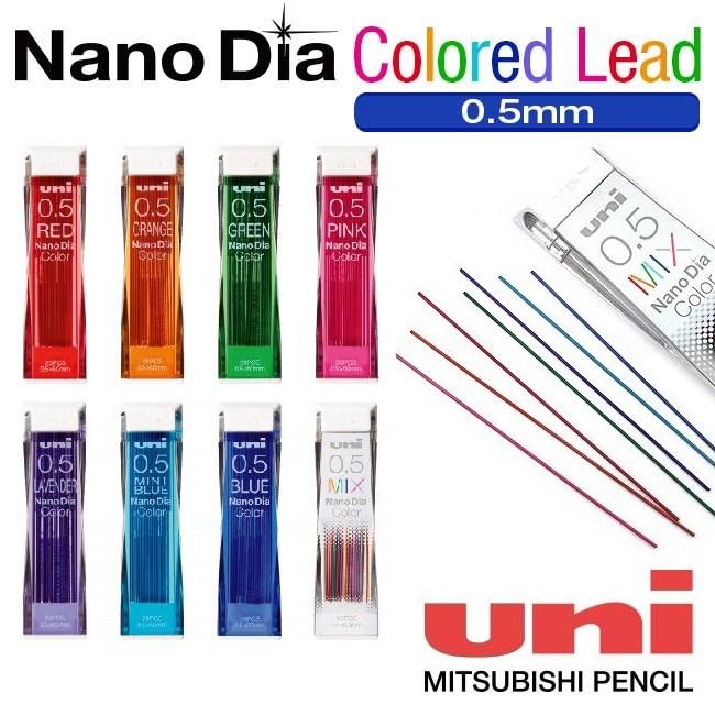 blue color 20 Leads Per Tube Pentel New Ain Pencil Refill Lead 0.5mm red