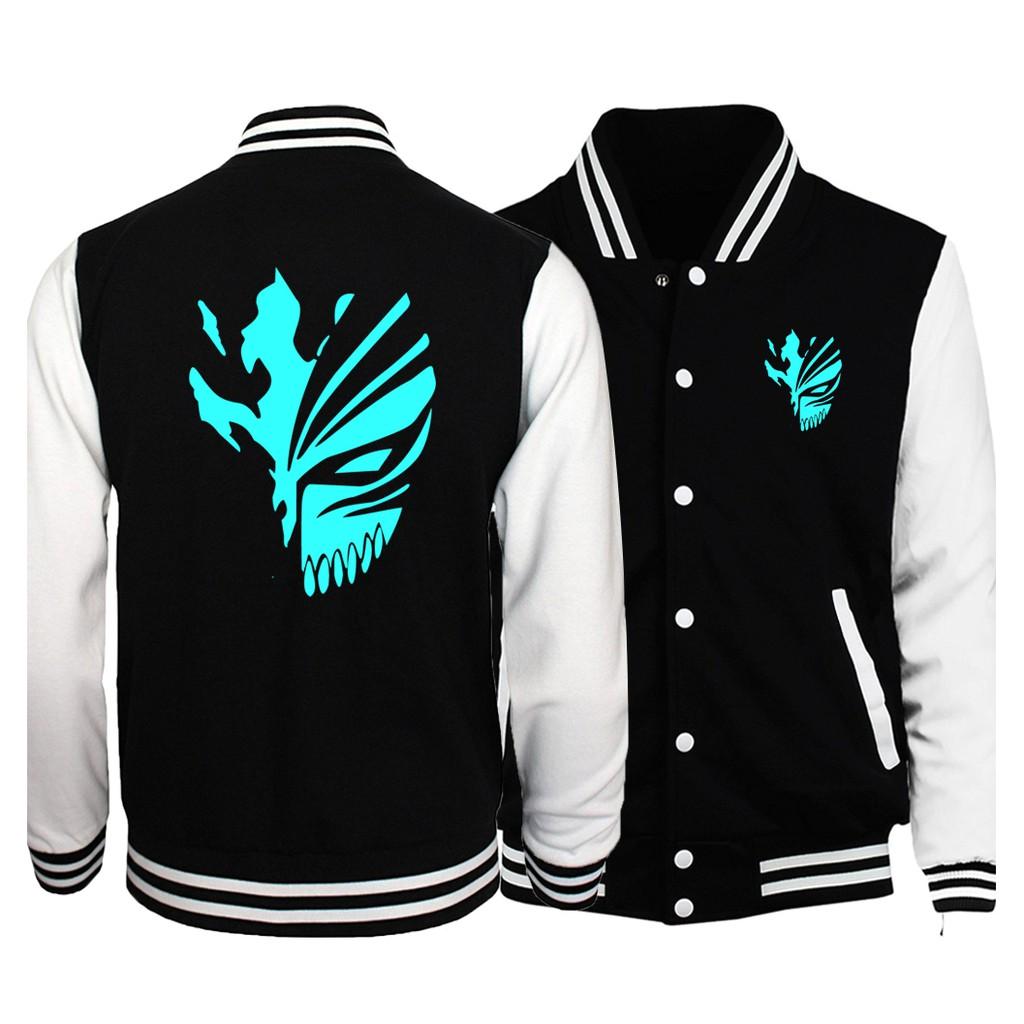 Anime BLEACH Kurosaki ichigo Thicken Luminous Jacket Zipper Coat Hoodies Outwear