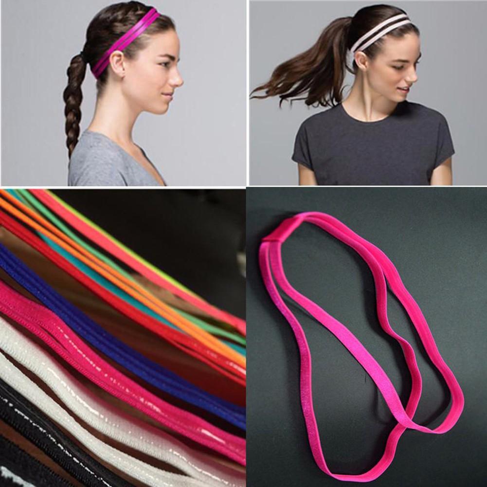 5Pcs Women Man Stretch Elastic Anti-slip Sport Double Headband All Sports