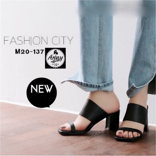 ♥โค๊ด NEWRAHK ลดเพิ่ม 80฿♥ รองเท้าส้นสูง Maxi ทรงคล