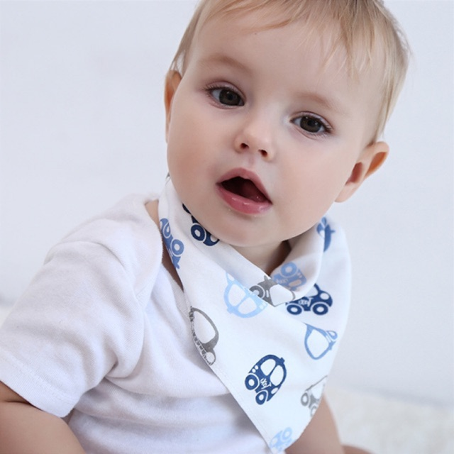 [READY STOCK]Baby Bibs Triangle Cartoon Cotton Bibs Infant Burp Cloths Cartoon Saliva Towel