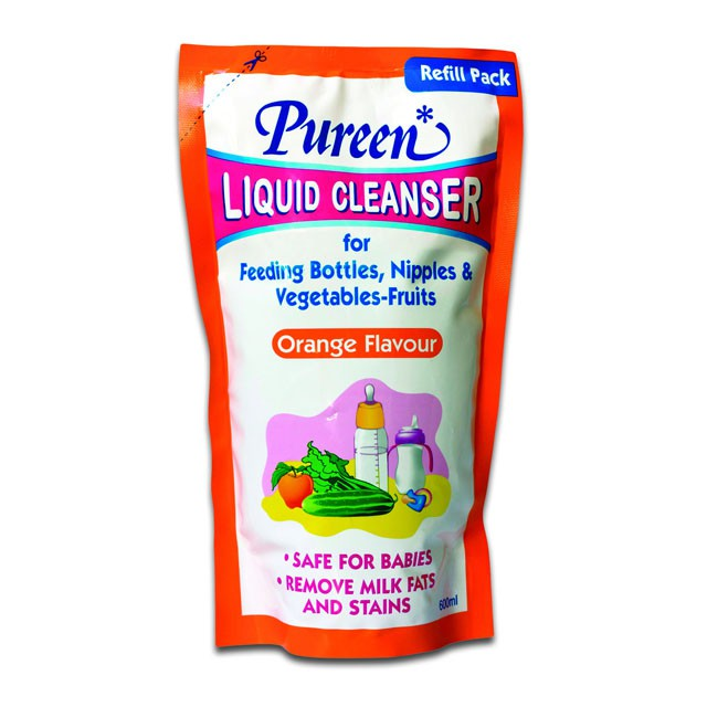 PUREEN LIQUID CLEANSER REFILL 600ML (ORANGE) X 3
