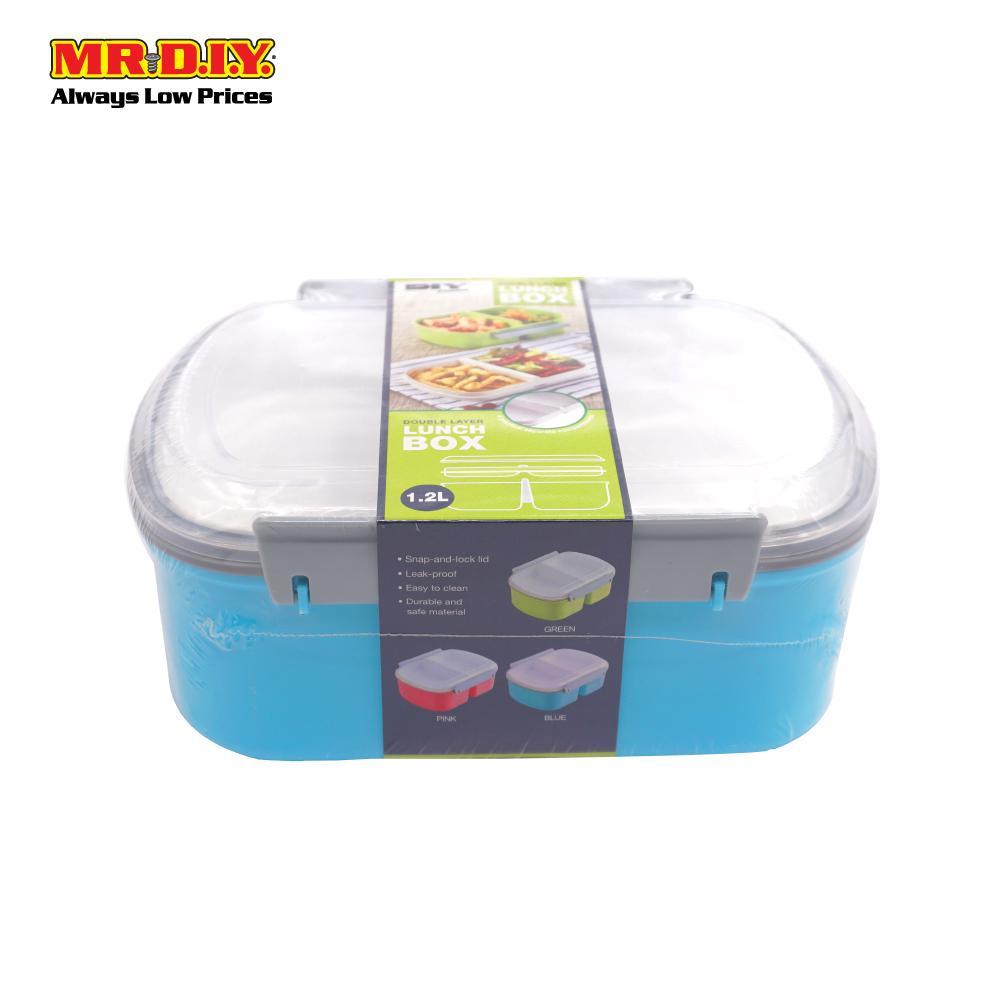 Mr Diy Premium Double Layer Lunch Box 1 2l