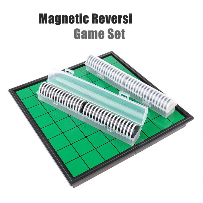 [ NEW ITEM ]Reversi Game Set with Magnetic Folding Board 10 X 10 Inches