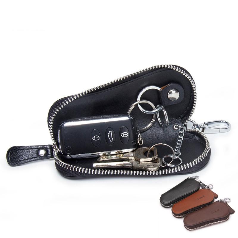 Men/'s Multifunctional Genuine Leather Car Key Case Holder Pouch Men Wallet