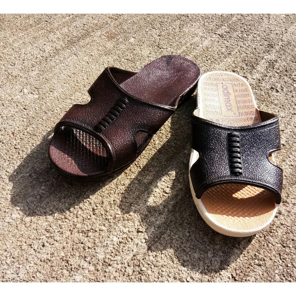 SHL Tun M 'Bata' Men Sandal Selipar Kasut Unisex Brown&Dark Red(NEW COLOUR)