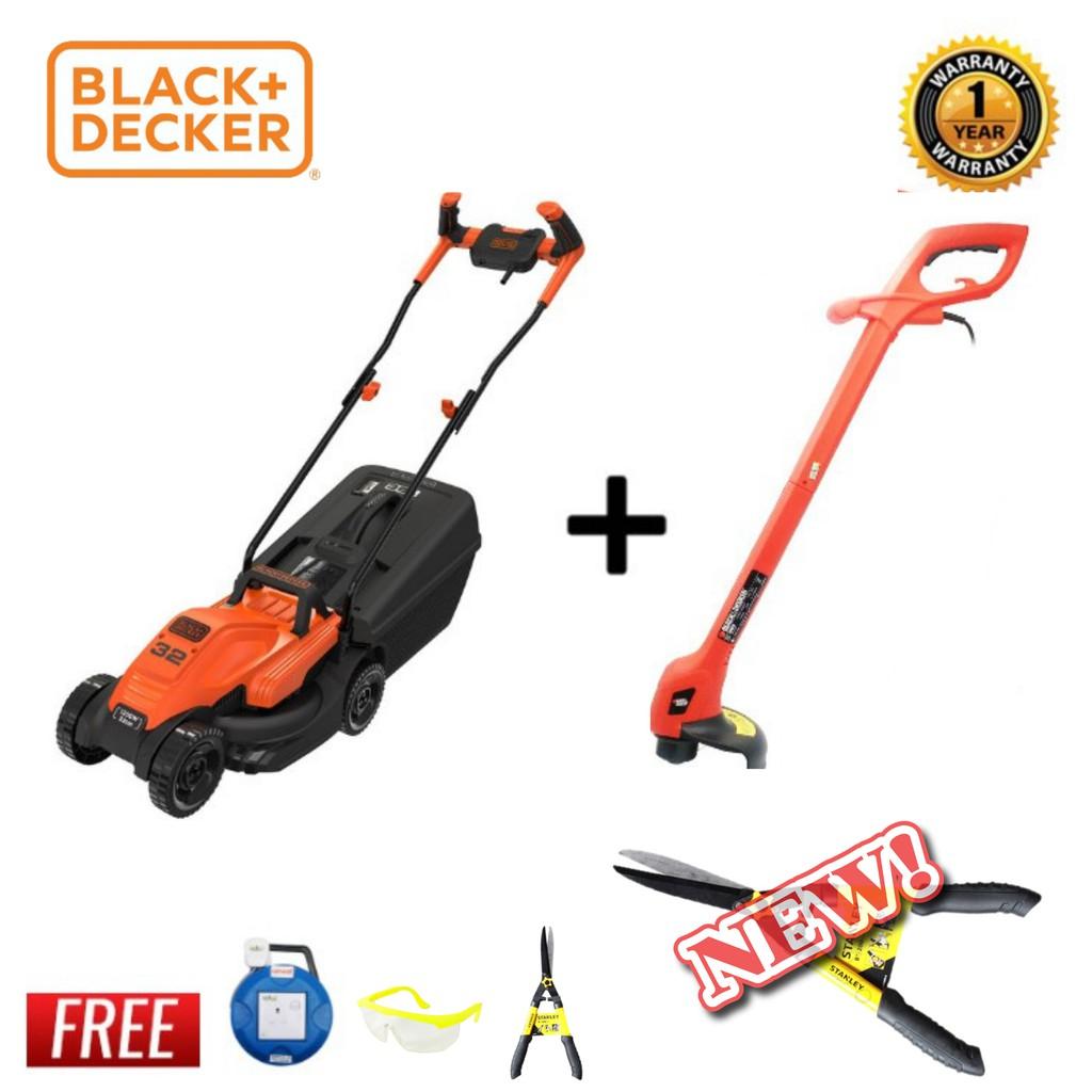 Black + Decker Electric Lawn Mower & Trimmer GL260 [Free 3 Items] BEMW451BH