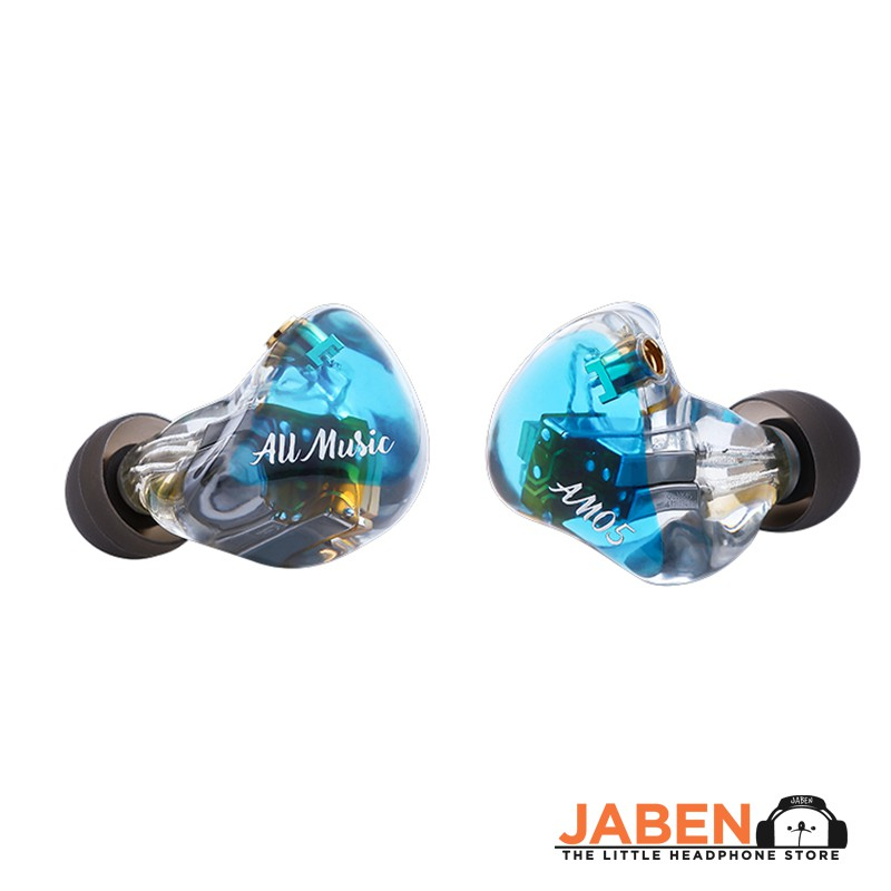 iBasso AM05 Hi-Res Penta 5 Knowles IEM Silver Plated OCC MMCX Cable In-Ear Earphones - Blue