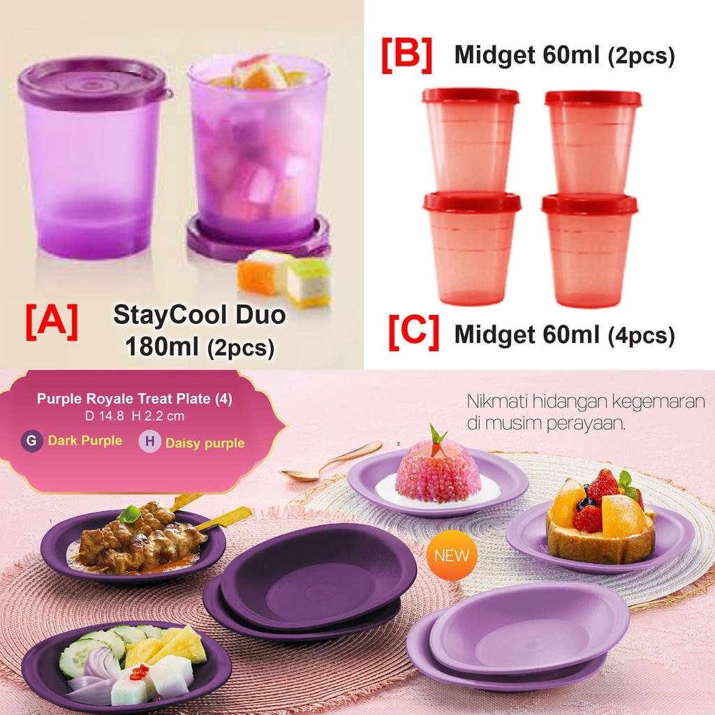 [Tupperware] StayCool Duo 180ml (2pcs) / Midget 60ml (2/4pcs)/ Snack Cups 110ml (4pcs)