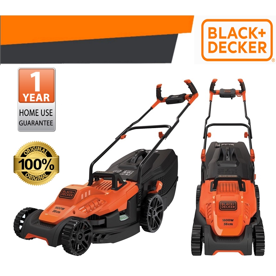 BLACK & DECKER BEMW471BH-XD OUTDOOR TOOL 38CM MOVER GRASS TRIMMER KAWASAN LUAR PEMOTONG RUMPUT SAFETY SAVETIME