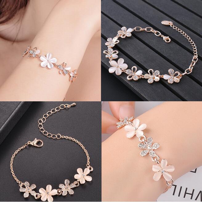 c44ca2a4e Korean Charm Pretty Gold Plated Crystal Moon Bracelet Girl Bangle Jewelry |  Shopee Malaysia