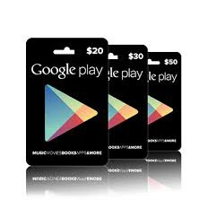 Google US Play Store Credits Gift Cards