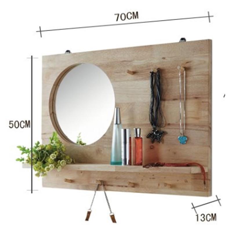Furniture Direct DAEGU FULL SOLID WOOD MIRROR WITH SHELF