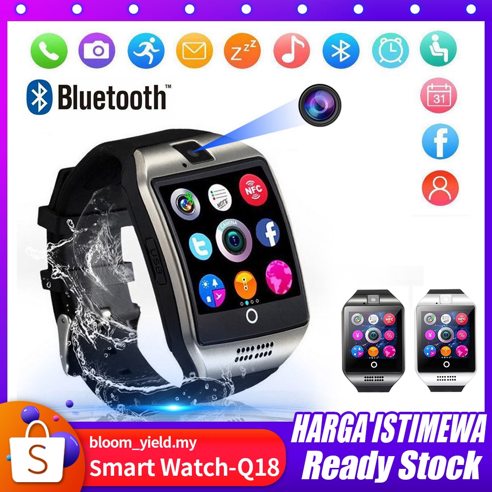 Bluetooth Touch Screen Q18 Smart Watch For Android mobiles iPhone X 8 Sim  Card