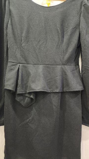 🆕💯{Taiwan brand~orangebear} 👗bodycon dress D8899 ~BLACK (fit L-XL)