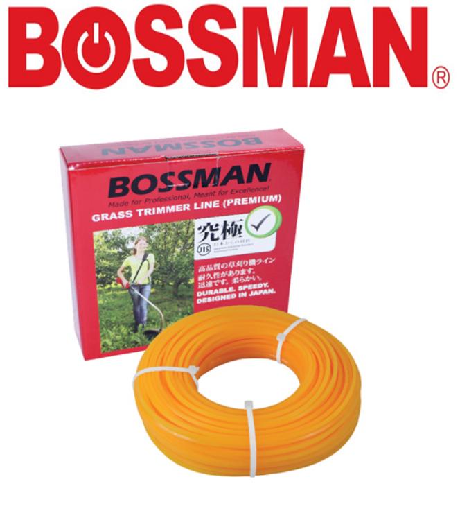BOSSMAN GRASS EDGE CUTTING TRIMMER LINE NYLON PA6 (PREMIUM GRADE) UP TO 20 MITUNES TALI POTONG RUMPUT