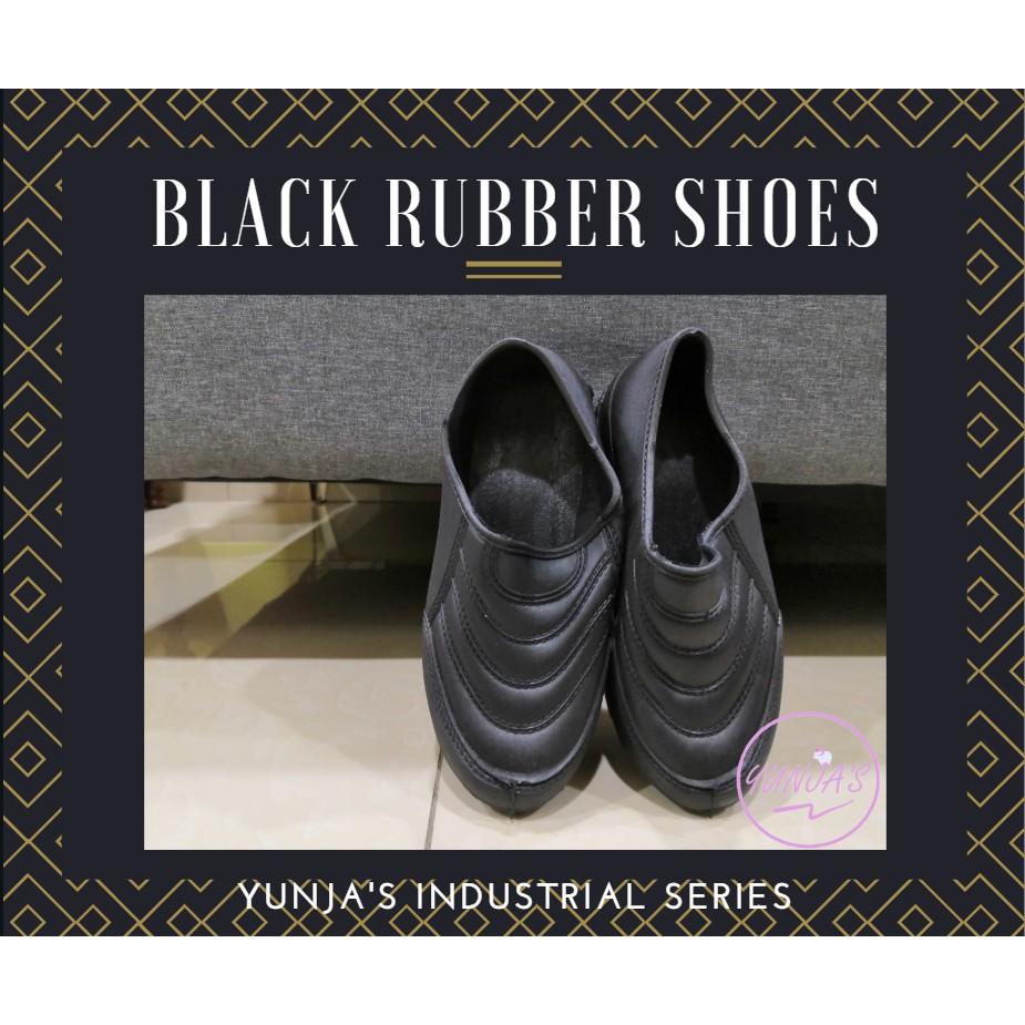 CAP GAJAH Black Rubber Shoes Kasut Getah Hitam Local Made Buatan Malaysia Industrial FT-300