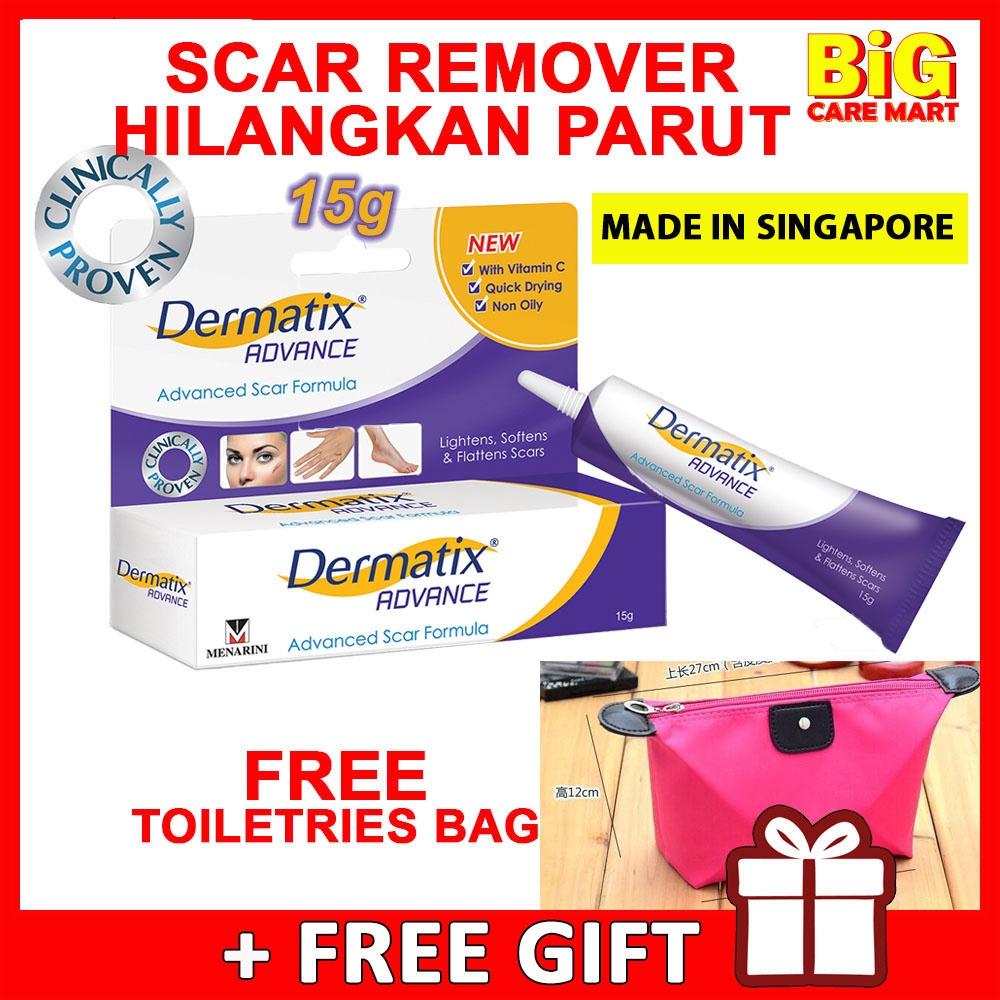 Dermatix Advance Scar Remover Gel with Vitamin C 15g + FREE BAG