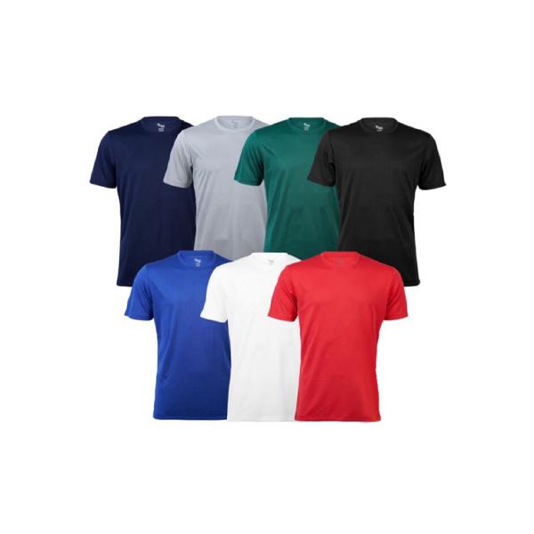 เสื้อยืดกีฬาแขนสั้น ผ้าโพลี แห้งไว ดูดเหงื่อ Poly T-Shirt