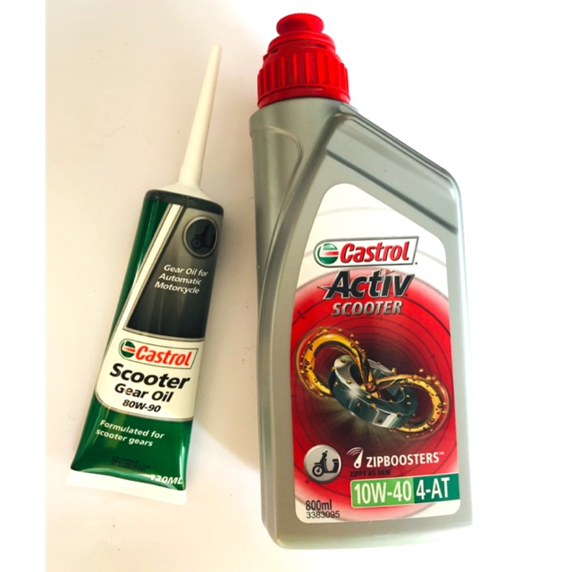 Activ Scooter 10w40 + Castrol Gear Oil 80w90 (Value Pack)