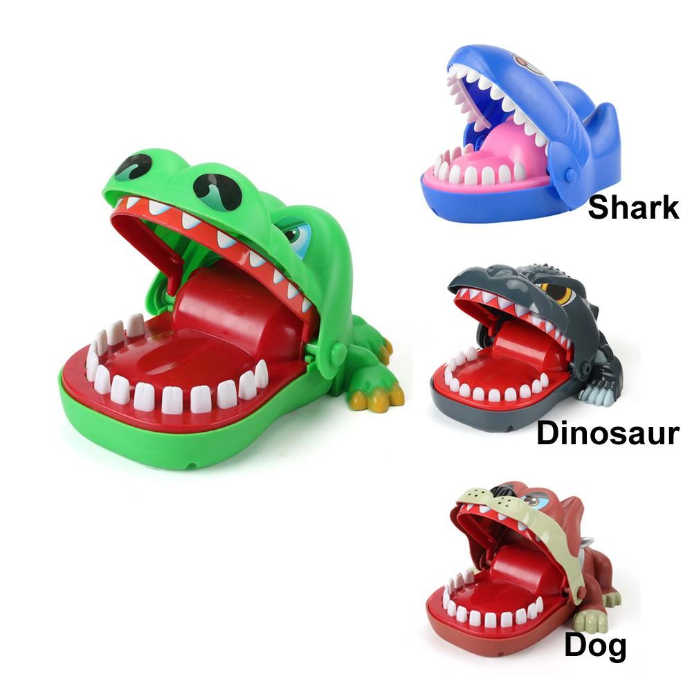 Adults Bite Finger Dinosaur Novelty Funny Shark Prank Tricky Toy Game