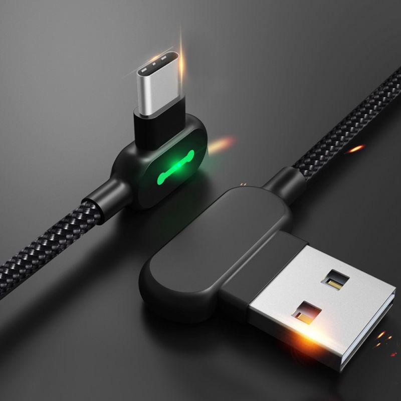 LED USB Cable Charging Data Cord Charging Lightning For Apple Samsung  Huawei Kit
