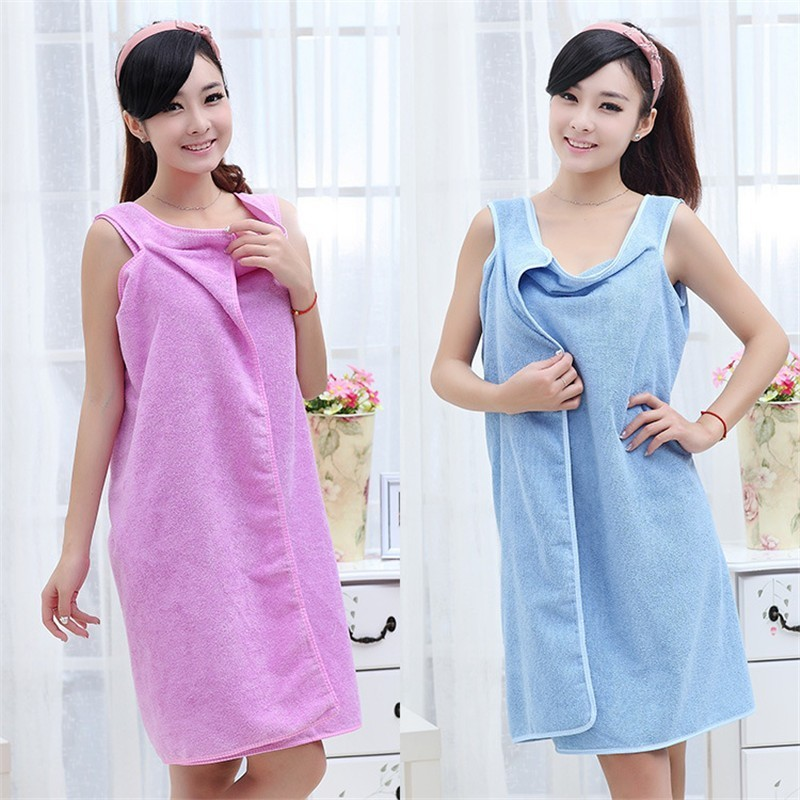 2457d202db Towel Lady Girl Portable Fast Drying Magic Beach Spa Bathrobes Bath Skirt  Halter