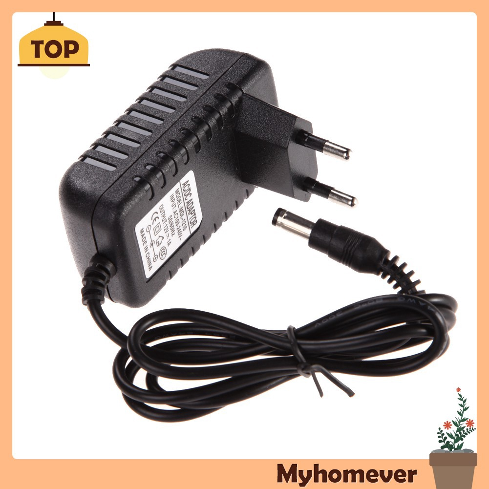 DC 12V 1A to AC 100~240V Charger Power supply adapter DC 5.5mm x 2.5mm
