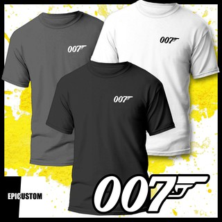 James Bond 007 Movie Logo T Shirt Gun Shirt 100/% Cotton Adult Men/'s Black Tee
