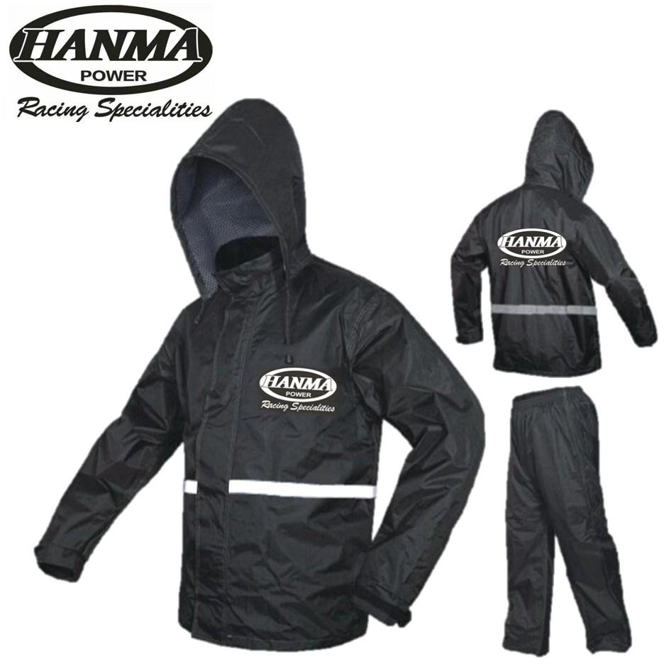 HANMA Rainsuit Raincoat Jacket Waterproof Canvas Pants Sling Bag Baju Hujan